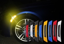Waterproof Car Wheel Eyebrow Reflective Warning 3D Sticker Front Bumper For Peugeot Nissan Juke Audi Q5 Q7 A4  Accessories