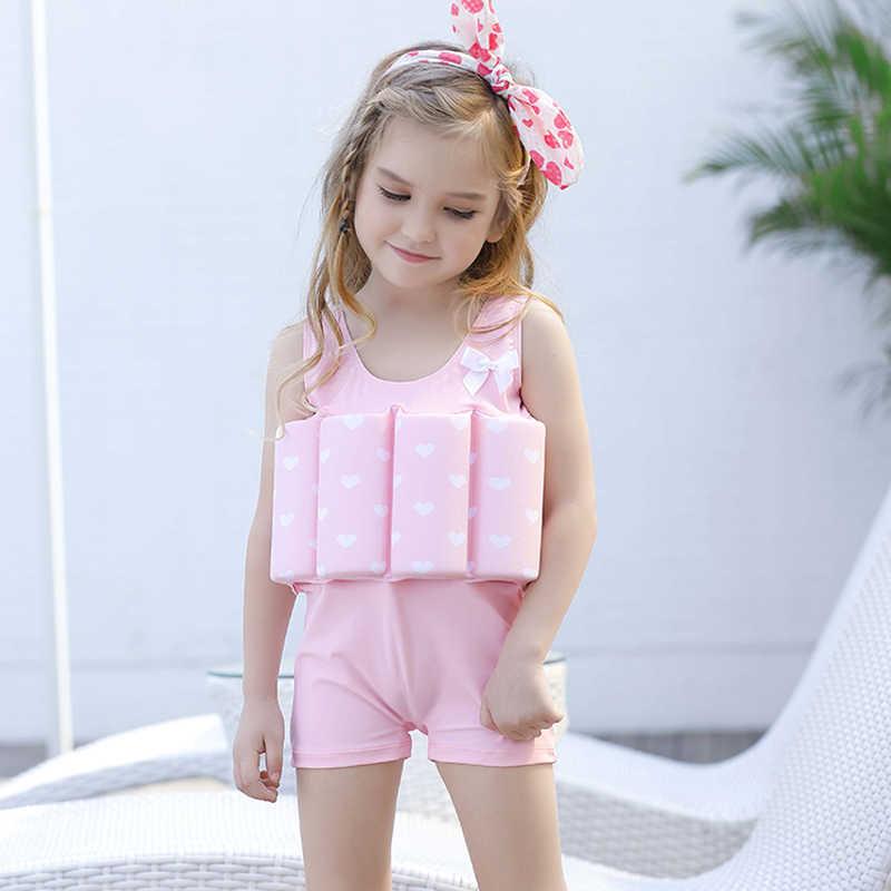 new pink love Buoyant swimsuit children kid girls swimwear baby girl bodysuit floating swimming pool swimwear bikini 321| |   - AliExpress->