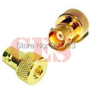 SMA Male To BNC Female Antenna Adapter For Yaesu Vertex Icom Kenwood Baofeng UV-5R KG-UV6D KG-UV8D T