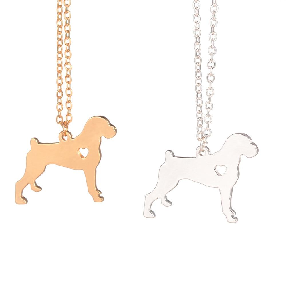 Guld sølv 1 stk Boxer halskæde Hund vedhæng Kæledyrsmykker Sølv charme Kæledyr Hundesmærkegave Familiekæledyr Ny hvalp Hundelskere