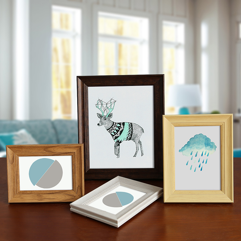 Wooden Photo Frame For Home Decor Rectangle Picture Frames