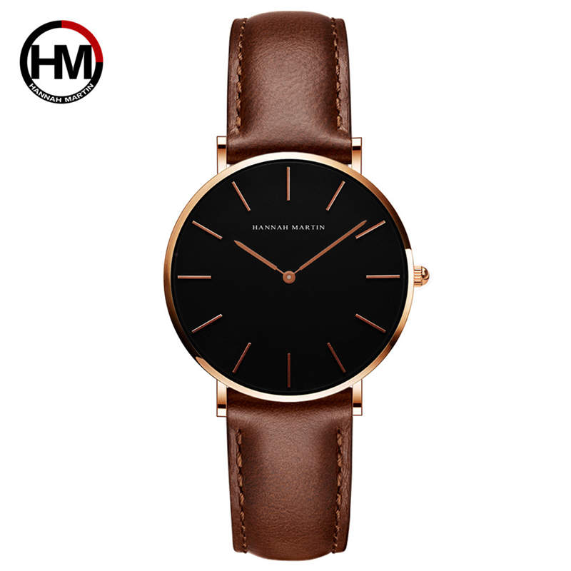 Simple Ladies Watch Fine Bracelet Leather Wristwatch Hannah Martin Women Watches Waterproof Small Dial Casual Clock Fashion 2018
