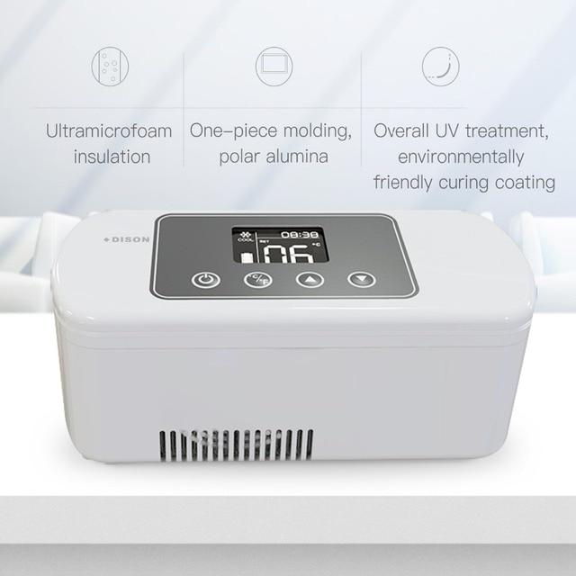 Mini Fridge Insulin Cooler Bag Dison 2-8 Degree Portable Cooler Box Diabetes Bag Mini Refrigerator