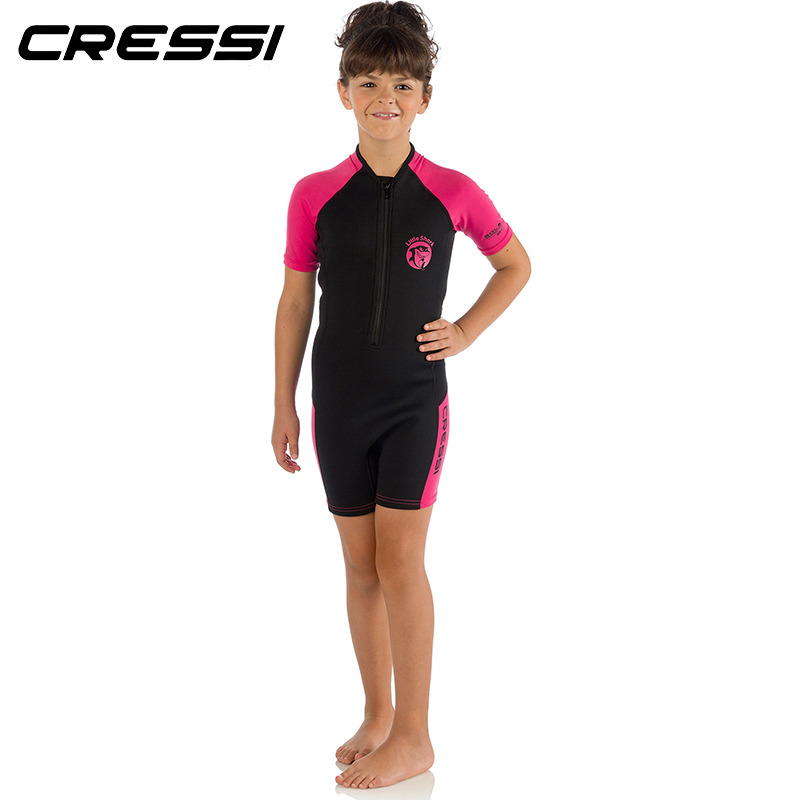 2eb7aa8ff12e3 Cressi LITTLE SHARK 2mm Shorty Wetsuit Children Boys Girls Keep Warm  Neoprene Snorkeling Swimming Suit for Kids-in Wetsuit from Sports &  Entertainment on ...