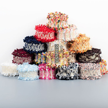 1yard Multi-color Wool woven Tassels  Lace Ribbon Trim Fabric DIY Sewing Garment Collar Headband Crafts Material Accessories