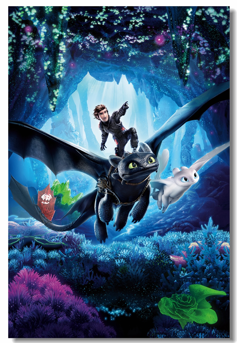 Custom Canvas Wall Arts How To Train Your Dragon 3 Poster Night