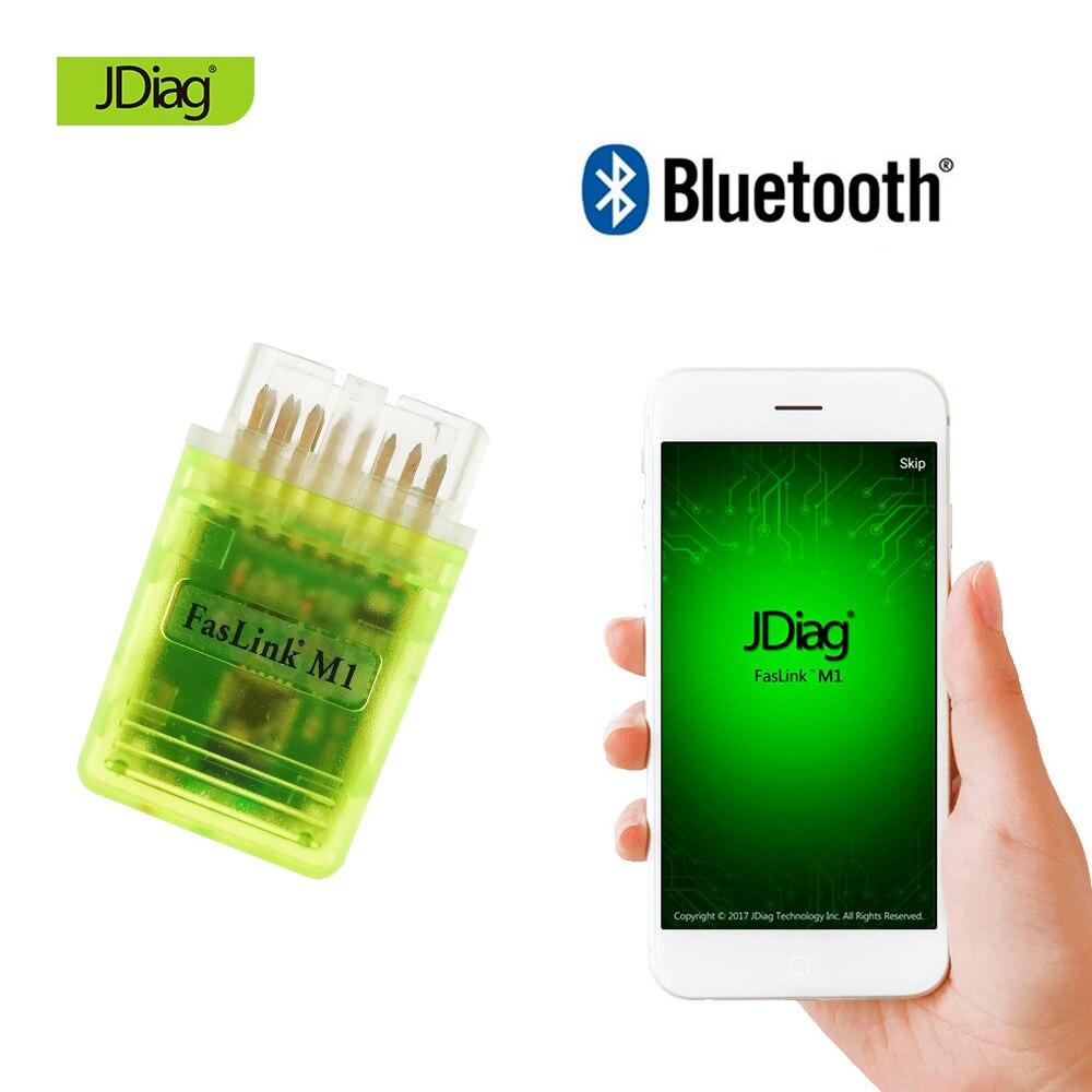 US $7 52 6% OFF|Code reader 2018 New JDiag Faslink M1 Bluetooth 4 0 OBDII  diagnostic scanner OBD2 fault code cleaner ELM327 Support 5 Protocols-in