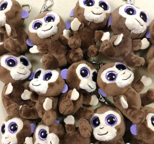 5c759dc0743 TY Beanie Babies Boo s Coconut Monkey Key Clip 3