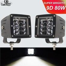 ضوء CO 9D 3 بوصة 80 واط LED ضوء العمل عالية الطاقة ستروب DRL الكاشف ل 4x4 الطرق الوعرة ATV UTV شاحنة الجرارات دراجة نارية 12 فولت 24 فولت