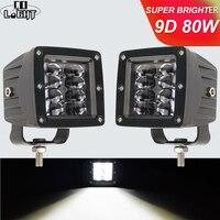 CO LIGHT 9D 3 inch 80W LED Work Light High Power Strobe DRL Floodlight for 4x4 Offroad ATV UTV Truck Tractors Motorcycle 12V 24V|Light Bar/Work Light| |  -
