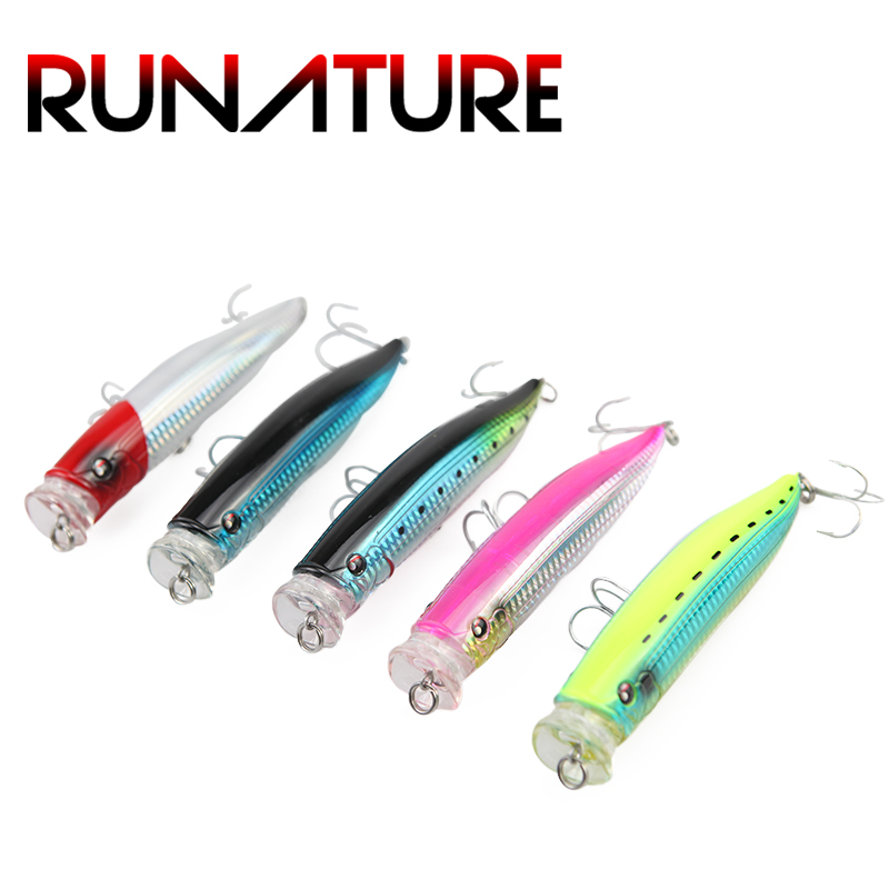 Runature Popper Lure Bait 150mm/58g Top Water Popper Bait Artificial Hard Fishing Lures Floating Topwater Popper Fishing Lure