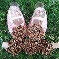 Perla de Encaje Zapatos de La Perla de Las Vendas Infantil Set, bling del chupete, Sapatinhos De Bebe Menina, cordón de la muchacha prewalker