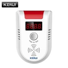Kerui glp detector de gas inalámbrico pantalla led digital detector de gas combustible para sistema de alarma