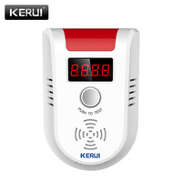 KERUI LPG GAS Detector Wireless Digital LED Display Combustible Gas Detector For Home Alarm System