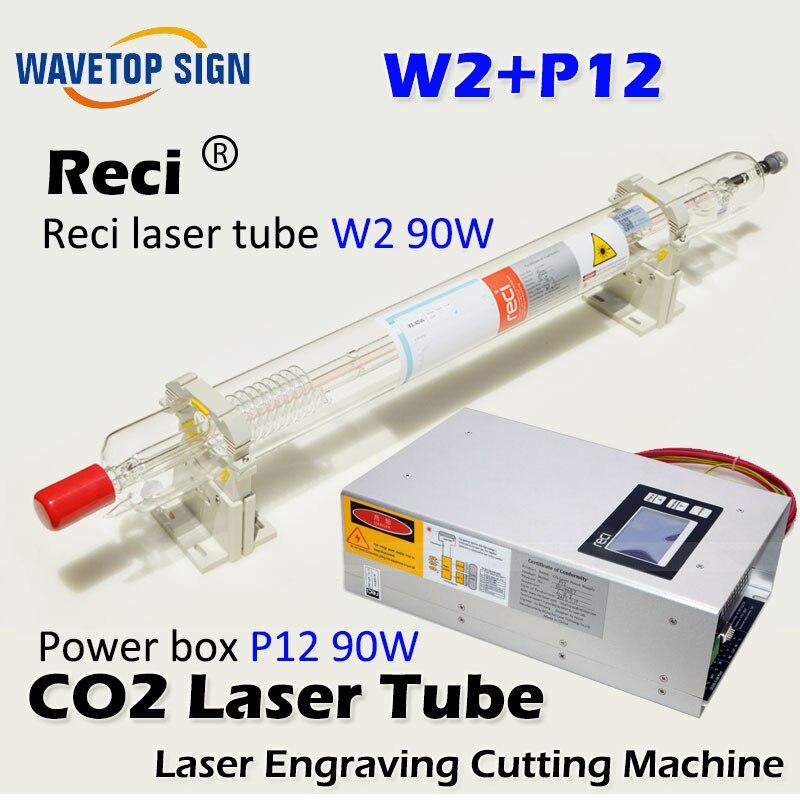 reci laser tube W2 90w 1200mm diameter 80mm 1pcs+ reci power box p12 1pcs laser power box 80 co2 laser power box 80w gernally laser power box 80w use for co2 laser tube 80w