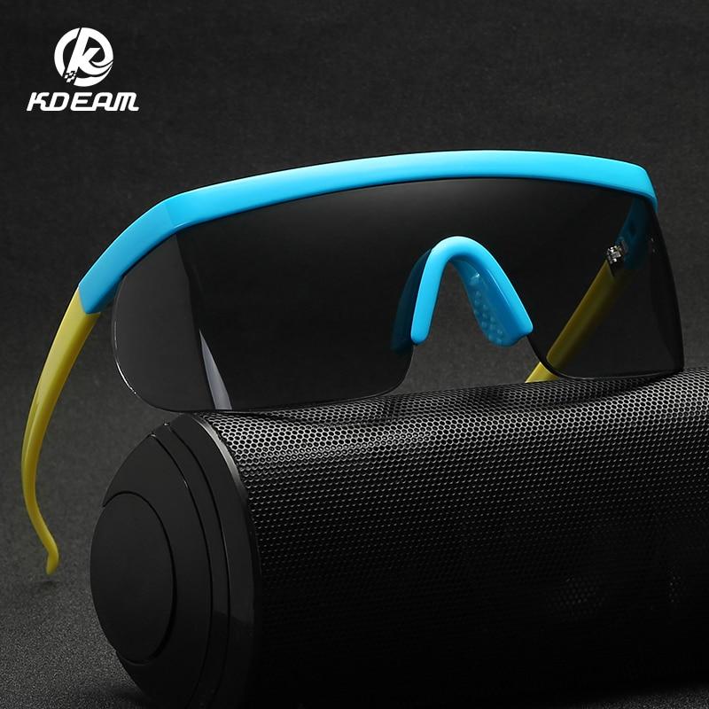 KDEAM 2019 Summer New Men Goggle Oversize Party Sunglasses Windproof Eyewear Flat Top Square Sun Glasses UV400 KD3597