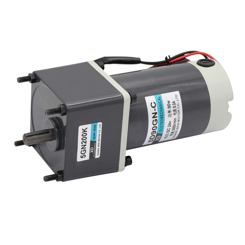 12V24V DC gear motor 90W miniature large torque slow permanent magnet motor gear small motor with gear 40w 50w hand cranked generator dc small generator 12v 24v permanent magnet dc motor dual use