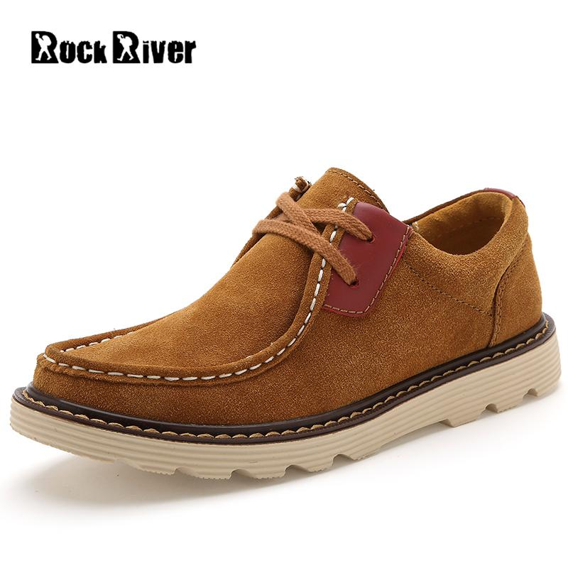 цены 2018 Spring Autumn Men Shoes Loafers Hot Fashion Flats Mens Casual Shoes Lace-up Moccasins Suede Leather Boat Shoes Men #7618