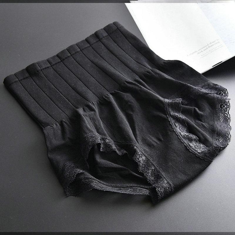 Sexy Slimming High Waist Underwear Women Shapewear Briefs Thin Mid-lumbar Abdomen Hips Lace Lingerie Body Shapers