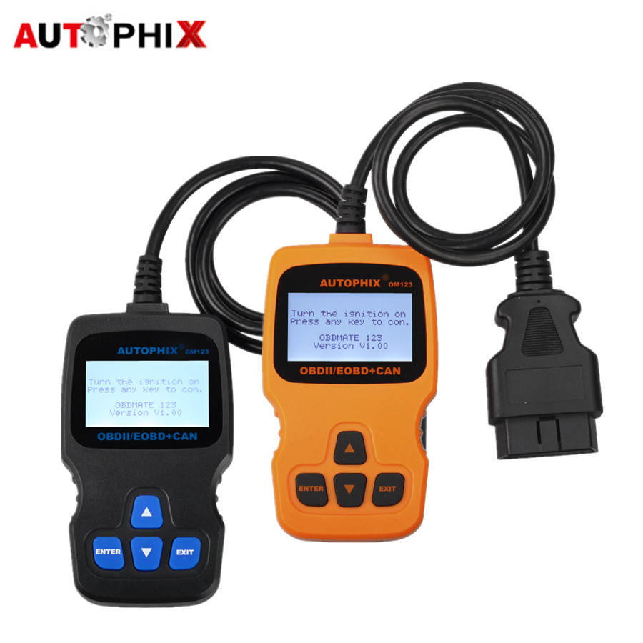 AUTOPHIX OM123 OBD2 EOBD CAN Hand-held Engine Code Reader Two Colors for Choose(Orange/Blue)