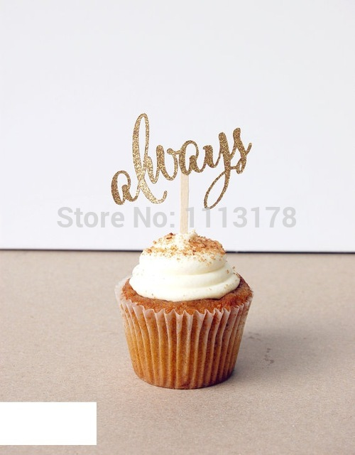 ALWAYS Party Treat Picks  Cupcake Toppers wedding bridal shower birthday party favors