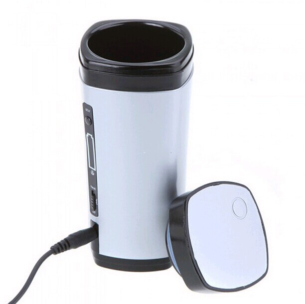 New Usb Ed Coffee Warmer Cup Rechargeable Tea Milk Mug Automatic Stir Portable