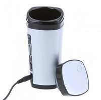 NEW USB Powered Coffee Warmer Cup Rechargeable Tea Milk Mug Automatic Stir Portable
