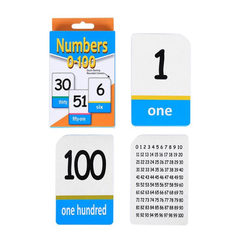 US $4 21 26% OFF|51 PCS Educational Toys English Number Words Card  Flashcards Learning Training Toys for Children Juguetes Educativos Kids  Games-in