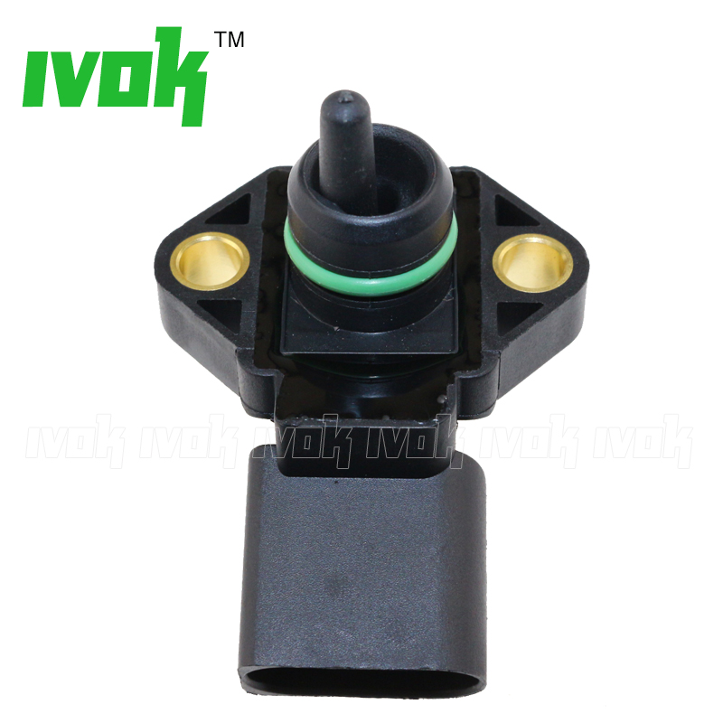 0281002177 New Manifold Absolute Pressure MAP Sensor For AUDI A2 A3 A4 A6 TT 1.2 1.4 1.8 T 1.9 2.5 TDI 038906051 V10-72-1044