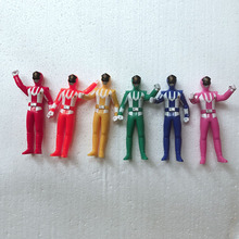 6PCS/set Power Model Action Figures Dolls Dinosaur team figures toys for children gift anime figurines brinquedos