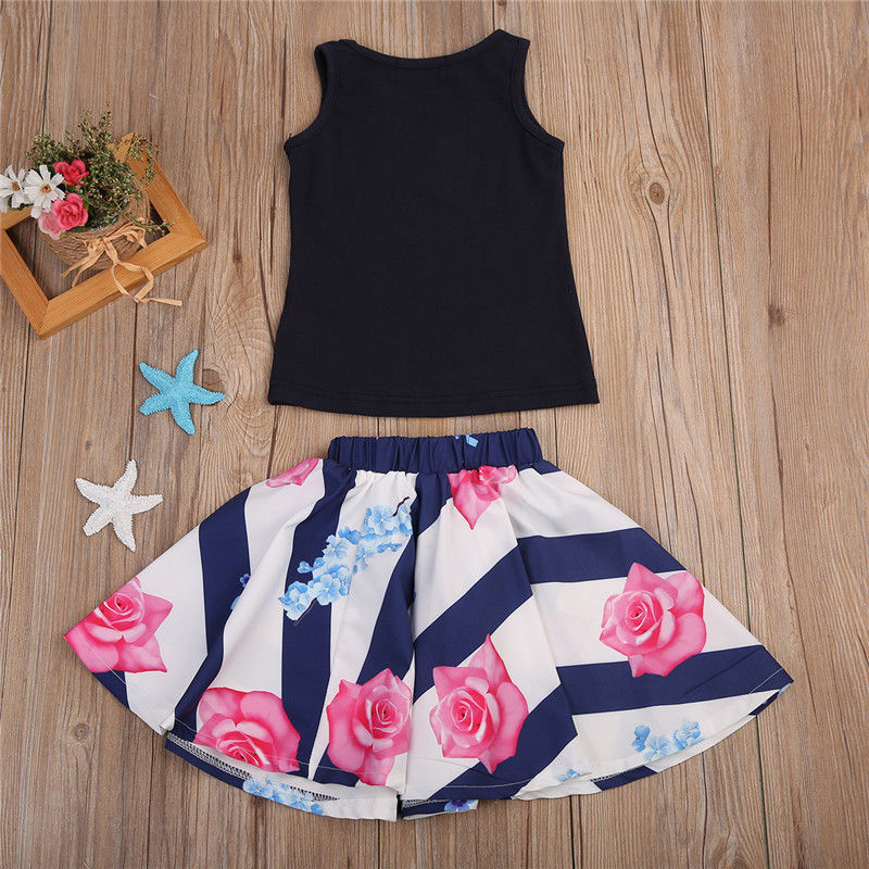 2PCSSet-Family-Match-Clothes-Mother-and-Daughter-Summer-Sleeveless-Vest-TopsFloral-Skirt-Outfits-Matching-Clothing-5