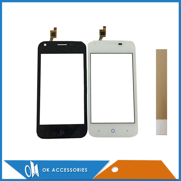 4.0 Inch For ZTE Blade L110 Touch Screen Digitizer High Quality Black White Color With Tape 1PC/Lot.