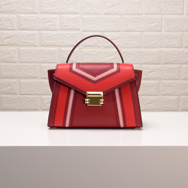 2019 Ladies Genuine Luxury Leather Bags Embroidery Design Trapeze Hand Bag Women European American Fashion Handbags Shoulder Bag