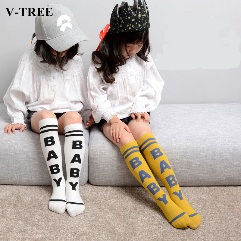 Sale Fashion Toddlers Kids Hosiery Combed Cotton For 0-4 Years Knee High Socks