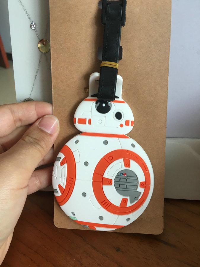 Cartoon Style Star Wars Luggage Tag PVC Pendants Portable Travel Label Fashion Suitcase Decoration Suitcase ID Address Holder