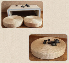 Hot sell 40cm Tatami Cushion Round Straw Weave Handmade Pillow Floor Yoga Chair Seat Mat Zafu