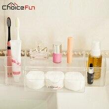 Choice fun rectángulo avanzada maquillaje organizador de acrílico organizador de escritorio caja de almacenamiento de baño multifuncional sf-1504