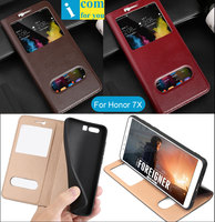 Genuine Real Natural Cow Leather Flip Cover Case For Huawei Honor 7X 5 93 Inch Book