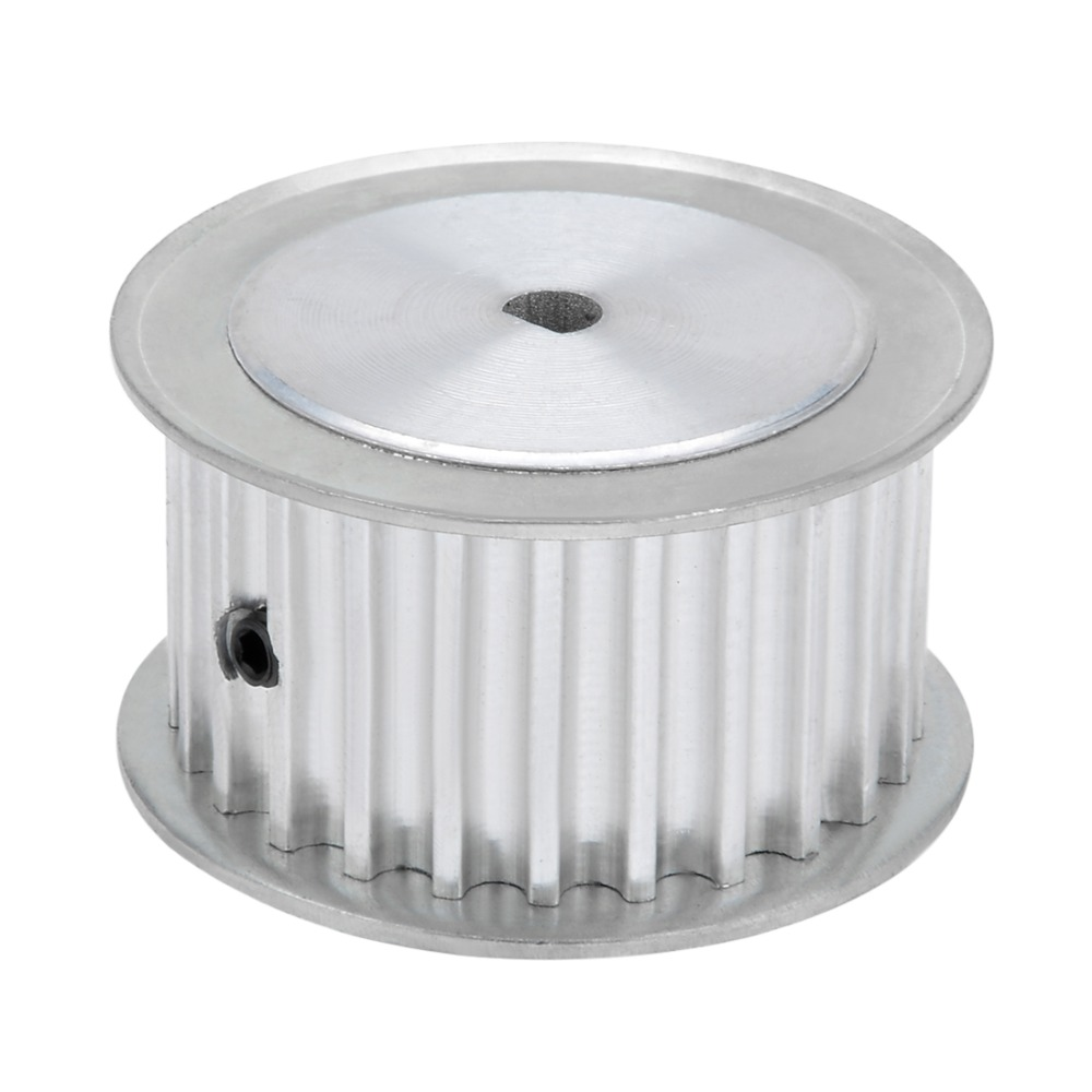 Aluminum 25 Teeth 5mmx4.5mm D-Shape Bore 21mm Belt Timing Idler Pulley Wheel Power Transmission