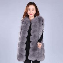 2017 Winter Thick Warm Real Fox Fur Vest Women's Fox Fur Coat Outerwear Women Fur Vest Jacket Overcoat