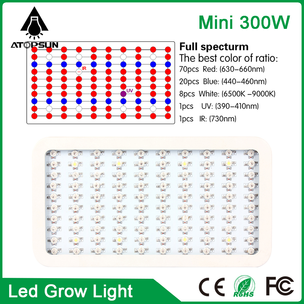 2pcs Mini 300W High Power LED Grow Light Full spectrum Led Lamp For Plants hydroponics systems greenhouse LED Aquarium Lighting 90w ufo led grow light 90 pcs leds for hydroponics lighting dropshipping 90w led grow light 90w plants lamp free shipping
