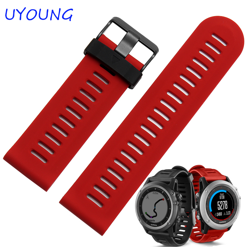 UYOUNG Watchband New Arrival Silicone Watch bands For Gramin Fenix3 Smart Watch Rubber Sport Strap