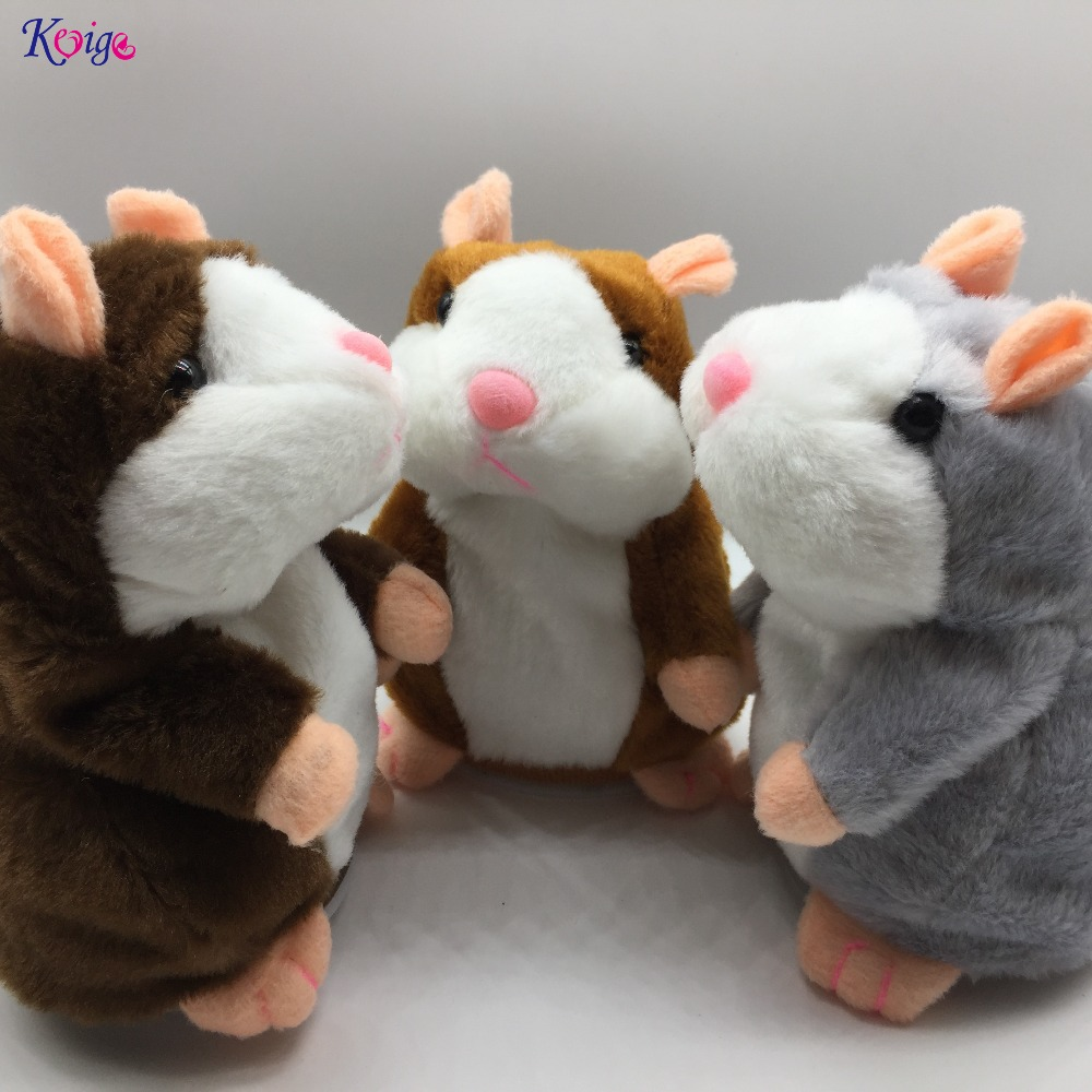 KEYIGE Talking Hamster Repeats What You Say Plush Animal Toy Electronic Hamster Mouse Pet for Kids Birthday Child Christmas Gift creative kids talking hamster electronic pet toy 1pc