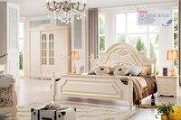 Заводская цена Спальня роскошная мебель King size принцесса деревянная кровать оптовая цена хорошее качество