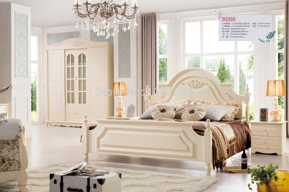Factory price bedroom furniture luxurious king size princess bed