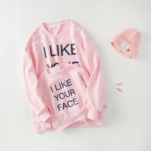 2017 new arrival mother daughter matching clothes sweatershirts