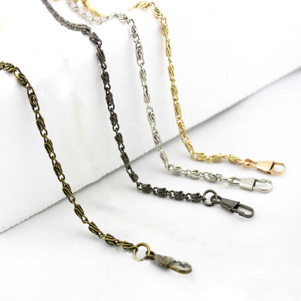120cm Handbag Metal Chains For Bag DIY Purse Chain With Buckles Shoulder Bags Straps Handbag Handles Bag Accessories & Parts