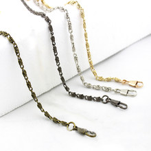 120cm Handbag Metal Chains For Bag DIY Purse Chain With Buckles Shoulder Bags Straps Handbag Handles Bag Accessories & Parts(China)