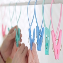 Hoomall 12PCs Plastic Clothes Pegs Home Travel Portable Hangers Rack Towel Clothespin Windproof Clothes Pegs 11.5cm*3.3cm