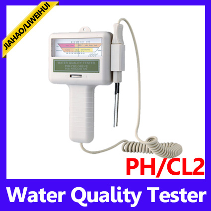 Portable water ph cl2 chlorine tester level meter ph tester for swimming pool spa pool test kits for Electronic swimming pool water tester